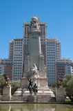 Monument of Miguel de Cervantes Royalty Free Stock Images