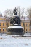 Monument Millennium of christening Russia, Veliky Stock Photo