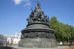 Monument Millennium of Russia close-up of sunny July day. Velikiy Novgorod Stock Image