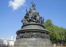 The monument Millennium of Russia closeup of a sunny day in july. Veliky Novgorod Royalty Free Stock Photo