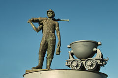 Monument miner. Copper miner monument at the entrance to the city of Bor - Serbia symbolizes mining town where the 1903 mine copper ore. Remember the more times Royalty Free Stock Photos