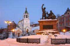 Monument of Minin and Podzarsky in Nizhny Novgorod Stock Images