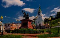 Monument of the Minin and Pozharsky in Nizhni Novgorod, Russia Royalty Free Stock Image
