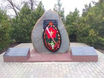 Monument 'minnet av hjältarna royaltyfri foto