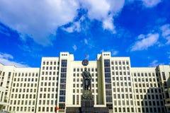 Monument Minsks Lenin stockbilder