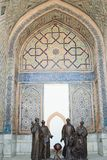 The architecture of ancient Samarkand royalty free stock images