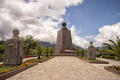 The monument of Mitad del Mundo Ecuador Royalty Free Stock Images