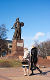 Monument mother motherland in kaliningrad Royalty Free Stock Photography