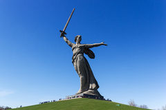The monument the Motherland calls! Royalty Free Stock Photography