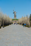 Monument of Motherland Calls in Mamayev Kurgan Royalty Free Stock Photography