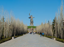 Monument of Motherland Calls in Mamayev Kurgan Stock Images