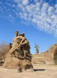 The monument of Motherland Calls in Mamayev Kurgan memorial complex in Volgograd Royalty Free Stock Image