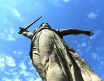 The monument the Motherland calls in Volgograd. Stock Images