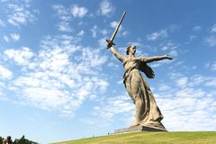 The monument the Motherland calls in Volgograd Stock Photos