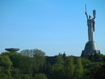 The monument Motherland in Kiev Royalty Free Stock Images