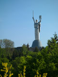 The monument Motherland in Kiev Stock Image
