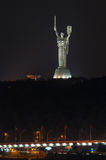 Monument Motherland in Kiev. Summer night Royalty Free Stock Images