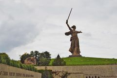 Monument Motherland. Mamayev Hill, Volgograd, Russia. Royalty Free Stock Photo