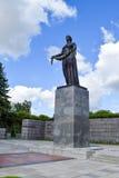The Monument Of Motherland. Piskaryovskoye memorial cemetery in Leningrad Royalty Free Stock Image