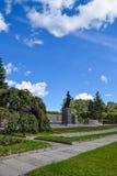 The Monument Of Motherland. Piskaryovskoye memorial cemetery in Leningrad Stock Images