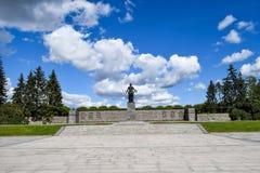 The Monument Of Motherland. Piskaryovskoye memorial cemetery in Leningrad Royalty Free Stock Images