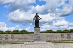 The Monument Of Motherland. Piskaryovskoye memorial cemetery in Leningrad Royalty Free Stock Photos