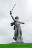 Monument Motherland in Volgograd, dramatic sky background. Stock Images