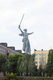 Monument Motherland in Volgograd, dramatic sky background. Royalty Free Stock Image