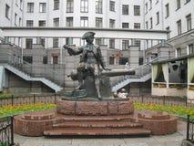 Monument Munchausen, heilige-Petersburg, Rusland Stock Foto's