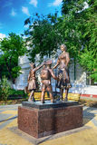 Monument my first teacher. Novocherkassk. Rostov region. Russia Stock Image