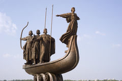 Monument of the mythical founders of Kiev Stock Image