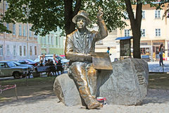 Monument of naive painter Nikifor Epifaniusz Drowniak, Lviv, Ukraine Royalty Free Stock Image