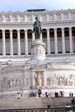 Monument national à Victor Emmanuel II Rome - Italie Images libres de droits