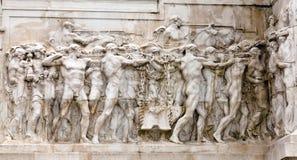 Monument national au vainqueur Emmanuel II Photographie stock libre de droits