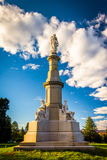 Monument at the National Cemetery in Gettysburg, Pennsylvania. Royalty Free Stock Photos