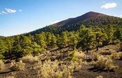 Monument national de cratère de coucher du soleil Image libre de droits