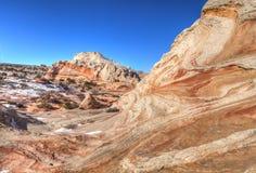 Monument national de falaises blanches de Poche-vermillon Photos libres de droits