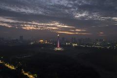 Monument national de l'Indonésie à Jakarta Photos libres de droits