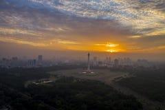 Monument national de l'Indonésie à Jakarta Photos stock