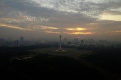 Monument national de l'Indonésie à Jakarta Photographie stock