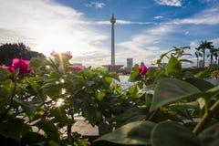 Monument national de l'Indonésie à Jakarta Image stock