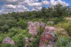 Monument national de Pipestone au Minnesota du sud-ouest photographie stock