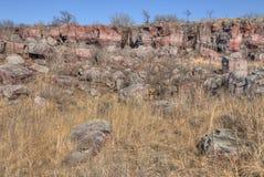 Monument national de Pipestone au Minnesota du sud-ouest photos stock
