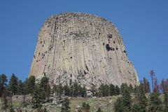 Monument national de tour de diables, Wyoming photos libres de droits