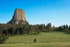 Monument national de tour du ` s de diable au lever de soleil photo libre de droits