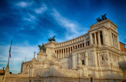 Monument national de vainqueur Emmanuel II Image libre de droits