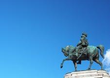 Monument national de vainqueur Emmanuel II Photos libres de droits