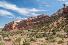 Monument national du Colorado à Grand Junction le Colorado Etats-Unis Photographie stock libre de droits