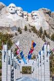 Monument national du mont Rushmore dans le Dakota du Sud Esprit de jour d'été Photos libres de droits