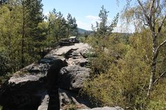 Monument naturel de pierre creuse Images stock
